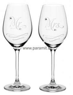 Swarovski Kalich 360 ml 6272/Mr.&Mrs. 2/1